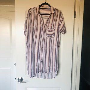 T shirt dress-silky material